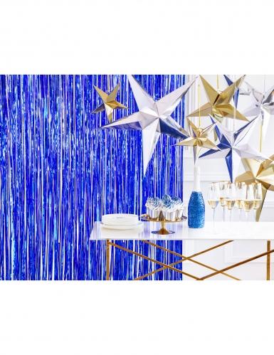 Rideau de fils bleu nuit 90 x 250 cm-1