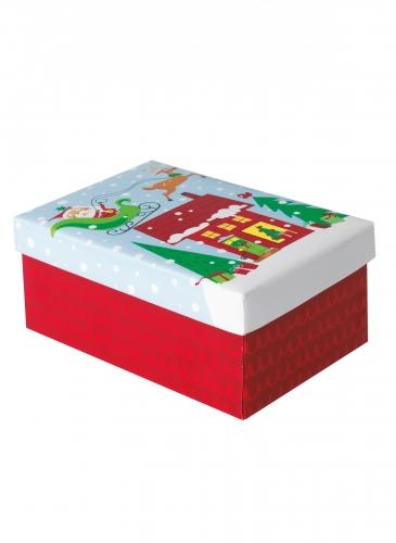Petite boîte cadeau père noël coloré
