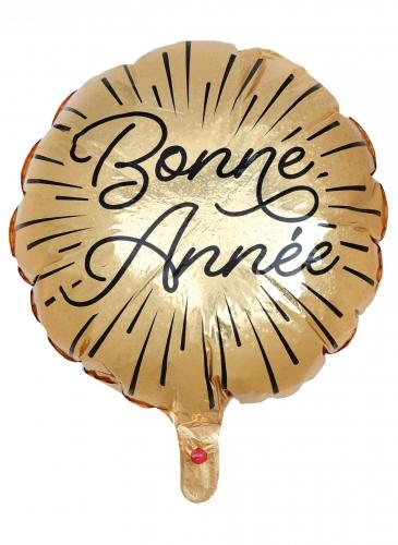Ballon en aluminium Bonne Année étincelant 45 cm