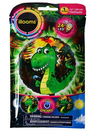 Ballon aluminium dragon LED Illooms® 50 cm