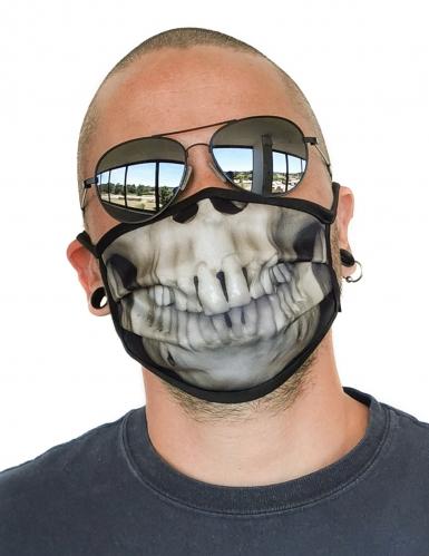 Masque cache nez imprimé squelette adulte