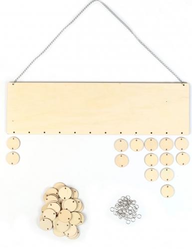 Calendrier des anniversaires en bois à personnaliser 42 x 12 cm-1