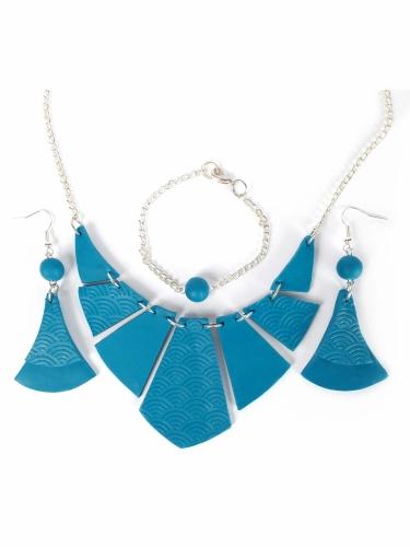 Kit création de bijoux parure turquoise 12,5 x 13 cm-1
