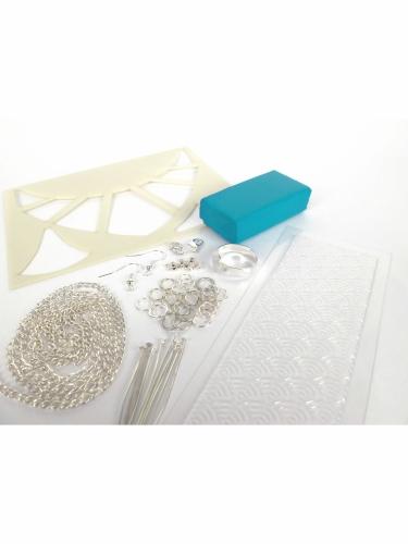 Kit création de bijoux parure turquoise 12,5 x 13 cm-2