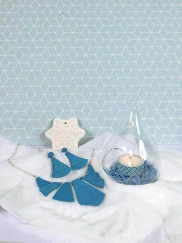 Kit création de bijoux parure turquoise 12,5 x 13 cm-5