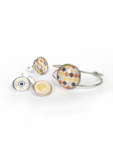 Kit création de bijoux parure colorée 12,5 x 13 cm-1