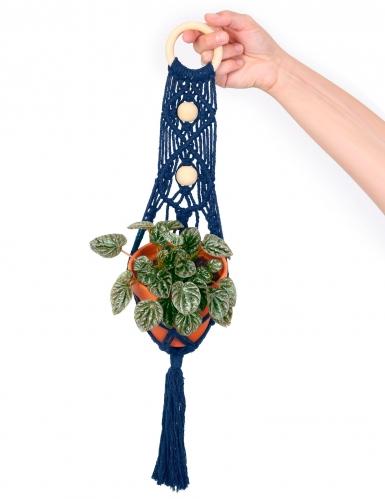 Kit macramé suspension plante bleue 10 x 60 cm