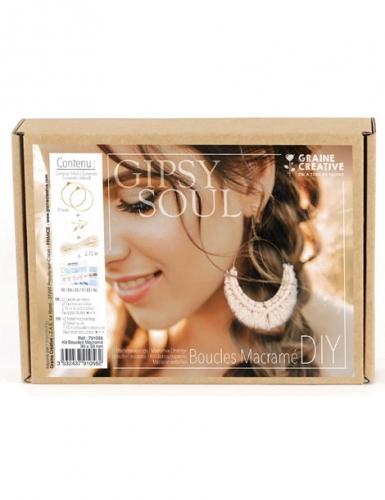 Kit boucles d'oreilles en macramé 9 x 5 cm