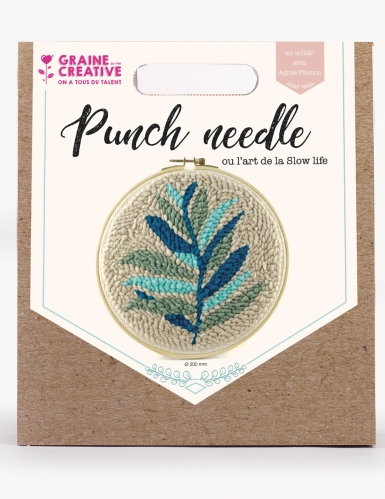 Kit de broderie Punch needle feuillage 20 cm