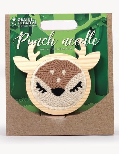 Kit de broderie Punch needle biche 15 cm