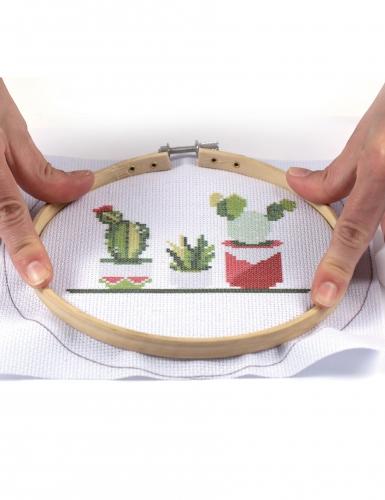 Kit tambour à broder Cactus 15,5 cm-2