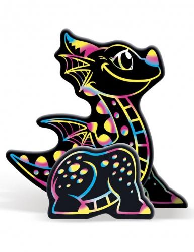 Boîte 4 animaux à gratter 3D Dragon 15 x 14,5 cm-2