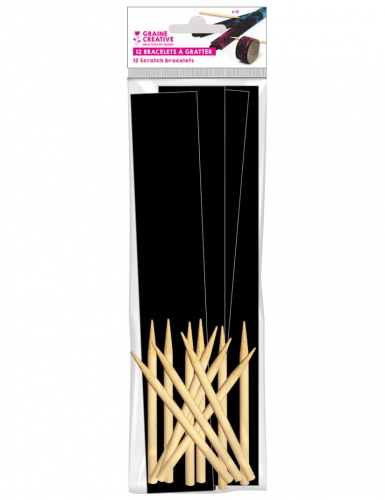 12 Bracelets à gratter + 12 bâtonnets