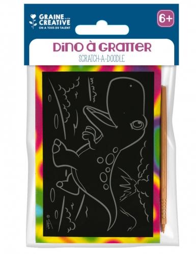 4 Cartes à gratter Dino 10 x 16 cm-1