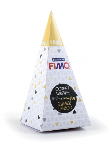 Cornet surprise jaune FIMO® Méduse 17 x 7 cm