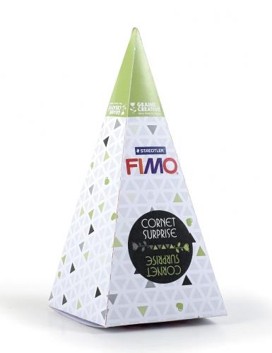 Cornet surprise vert FIMO® Renard 17 x 7 cm