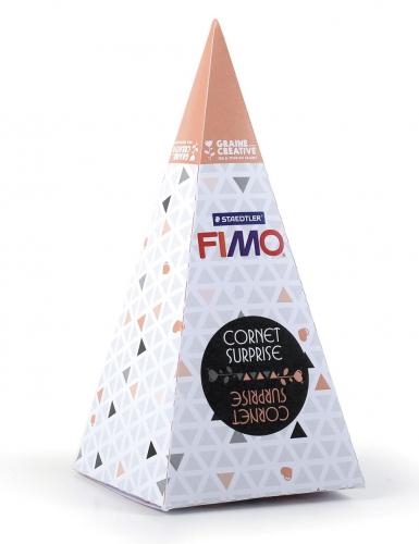 Cornet surprise orange FIMO® Licorne 17 x 7 cm