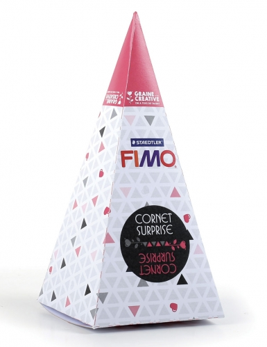 Cornet surprise rose FIMO® Sirène 17 x 7 cm