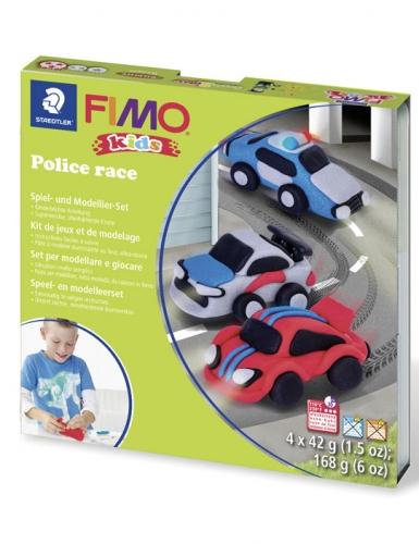 Kit pâte FIMO® Course de police-1