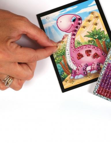 6 Cartes mosaïque holographiques Dino 10 x 16 cm-2