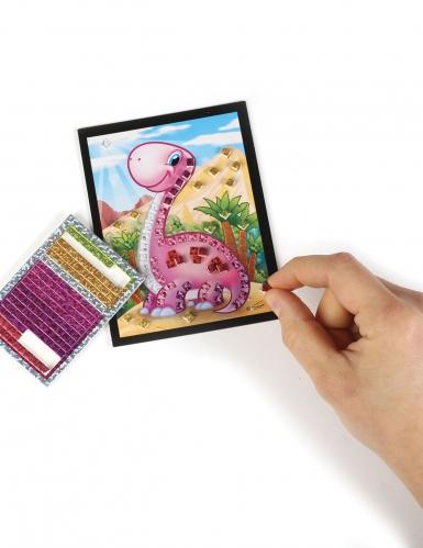 6 Cartes mosaïque holographiques Dino 10 x 16 cm-3