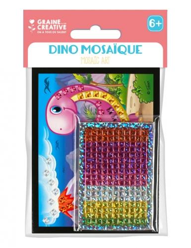 6 Cartes mosaïque holographiques Dino 10 x 16 cm-1