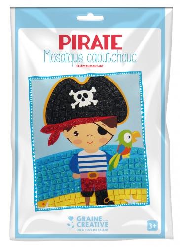 Kit mosaïque en caoutchouc souple Pirate 19 x 27,5 cm