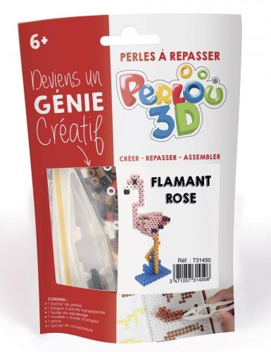 Kit perles à repasser 3D Flamant rose-1