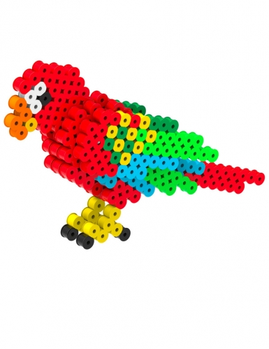Kit perles à repasser 3D Perroquet