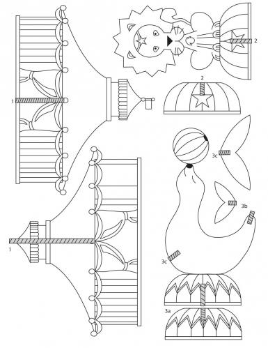 Kit plastique dingue cirque 3D avec découpe-1