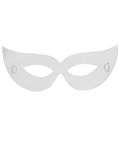 3 Masques plats à décorer en carton Loups-1
