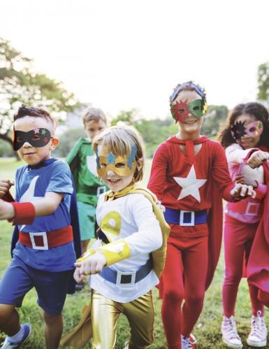 12 Masques en caoutchouc souple super héros-2