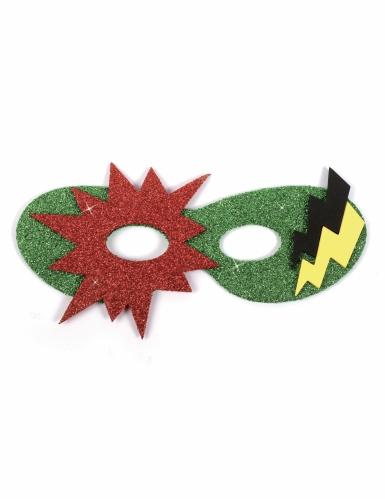 12 Masques en caoutchouc souple super héros-3