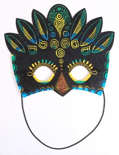 3 Masques plats à gratter en carton Aventure-2