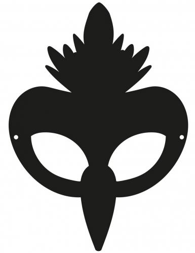 3 Masques plats à gratter en carton Oiseaux-1