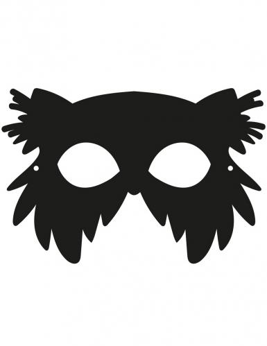 3 Masques plats à gratter en carton Oiseaux-3