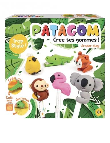 Kit PATAGOM création de gommes Animaux 25 x 25 cm