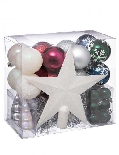 Kit décorations de sapin de Noël 44 pièces