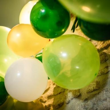 Kit arche de 70 ballons en latex tropicale-2