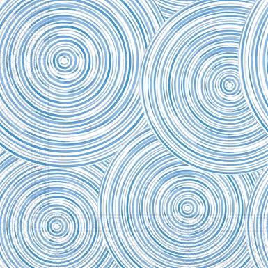 20 Serviettes en papier home compostable blue circles 33 x 33 cm