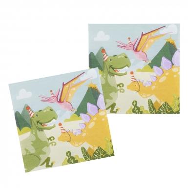 12 Serviettes en papier Dino Party 33 x 33 cm