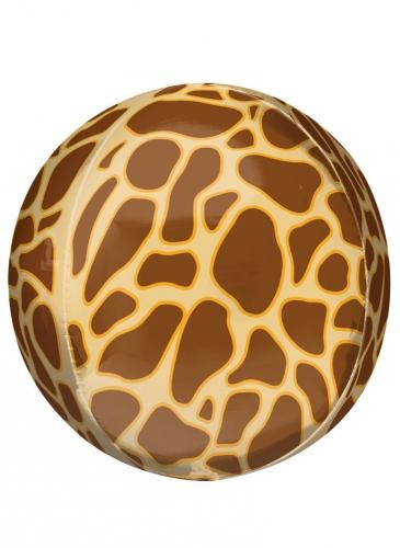 Ballon imprimé girafe 38 cm