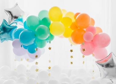 10 Ballons en latex pastel turquoise 26 cm-1