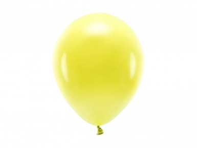 10 Ballons en latex pastel jaune 26 cm