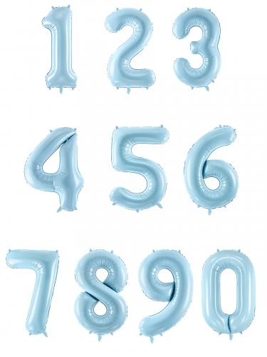 Ballon géant chiffre bleu pastel 86 cm-1