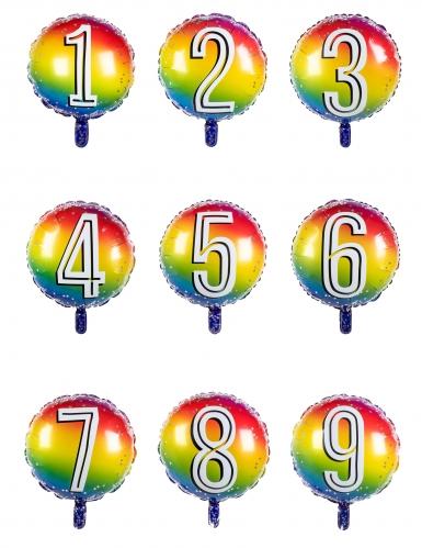 Ballon aluminium multicolore chiffre 45 cm-1