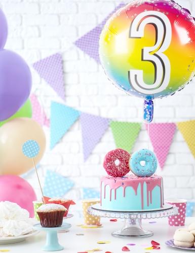 Ballon aluminium multicolore chiffre 45 cm-2