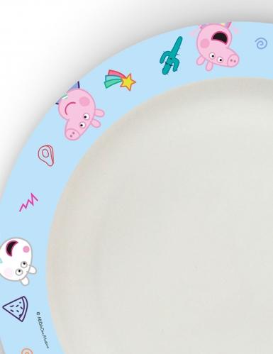 8 Assiettes en carton home compostable Peppa Pig™ 24 cm -1