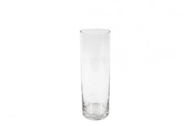 Vase cylindrique en verre 8 x 25 cm