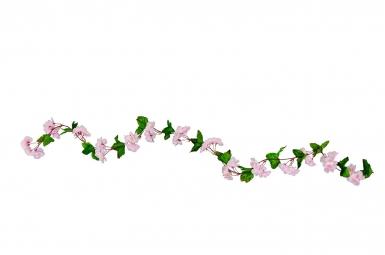 Guirlande de fleurs de cerisier rose 220 cm